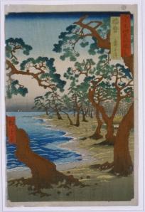 """Utagawa Hiroshige (1797-1858), """"Harima, Maiko no hama (Maiko beach in the province of Harima)"""", 1853"""