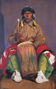 """Portrait of Dieguito Roybal, San Ildefonso Pueblo"" by Robert Henri. 1916. Courtesy of NM Museum of Art"