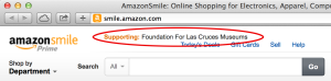 Support the Foundation for Las Cruces Museums by shopping at smile.amazon.com, and identifying the foundation as your preferred donation. A percentage of your sale will be given to the foundation.