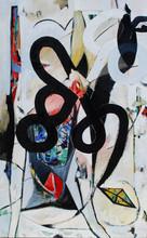 Raul Dorn, The Shaman's Incantation- oil and acrylic on canvas